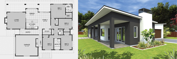 Our Contemporary 9 House Plan | David Reid Homes