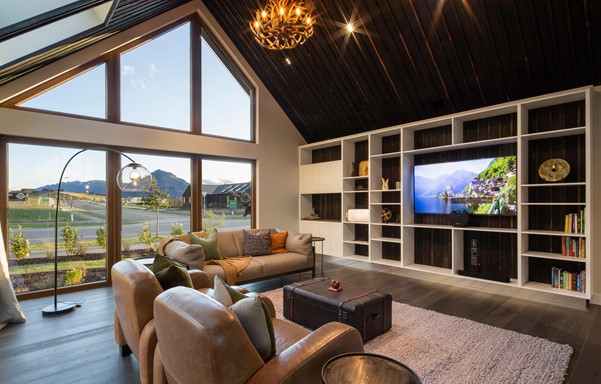 Mountain view from the living area | David Reid Homes