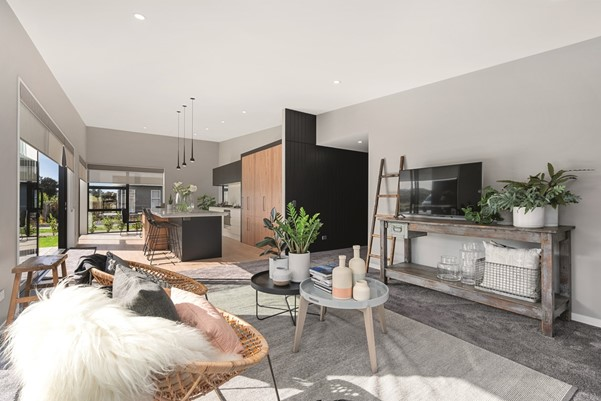 Living Area Kapiti Feature Home | David Reid Homes