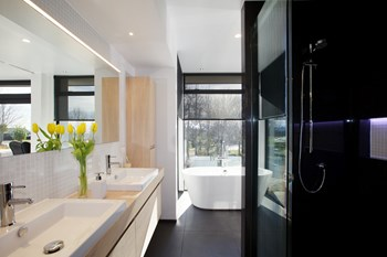 Contemporary Bathroom  (Wood Finish) - Bathroom Design Ideas