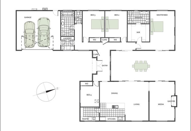 House plan for new Christchurch showhome