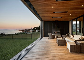 Designer homes, timber ceiling with open deck